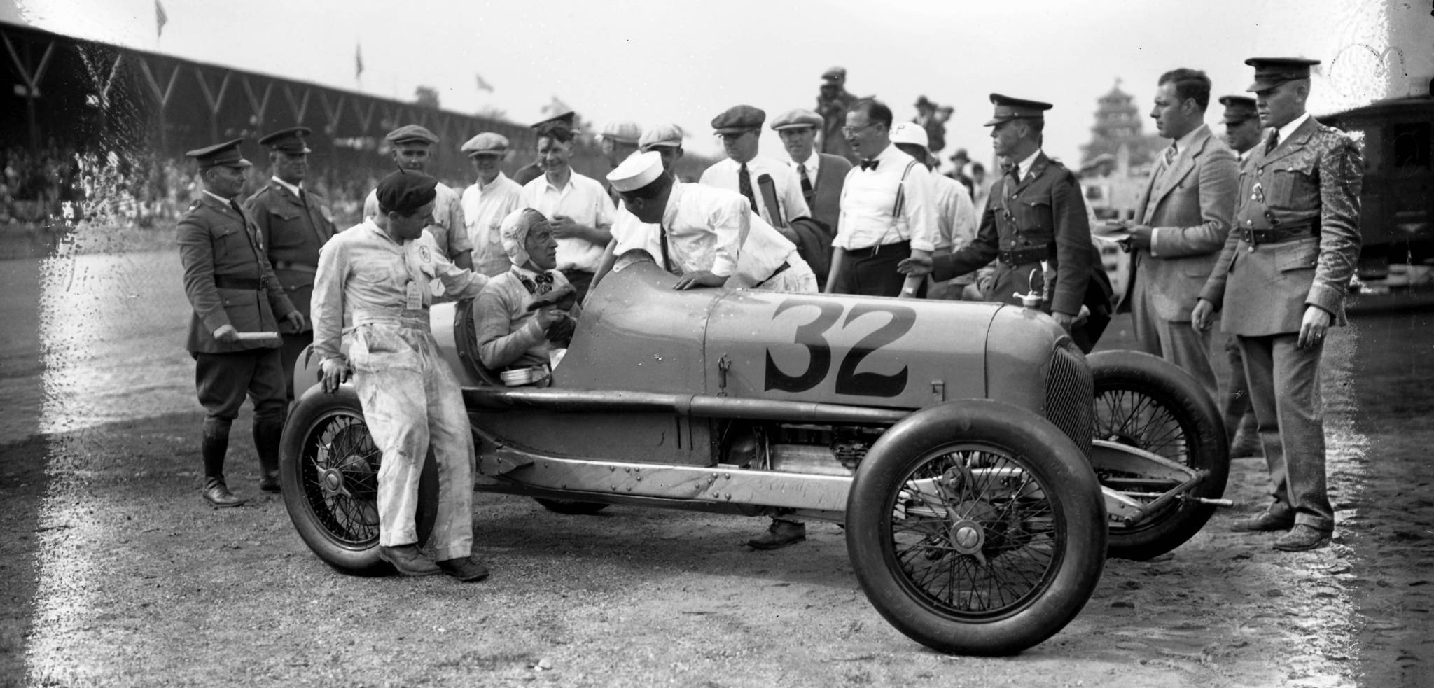 George Souders wins the 1927 Indianapolis 500 in a Duesenberg. U.S. Axle worked with Duesenber to redesign their race cars' axles in 1923. (Chicago Tribune historical photo)